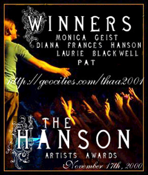 I won at The Hanson Artist Awards!!